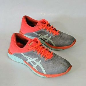 Asics Gel Fuse X Gray Orange Running Sneakers